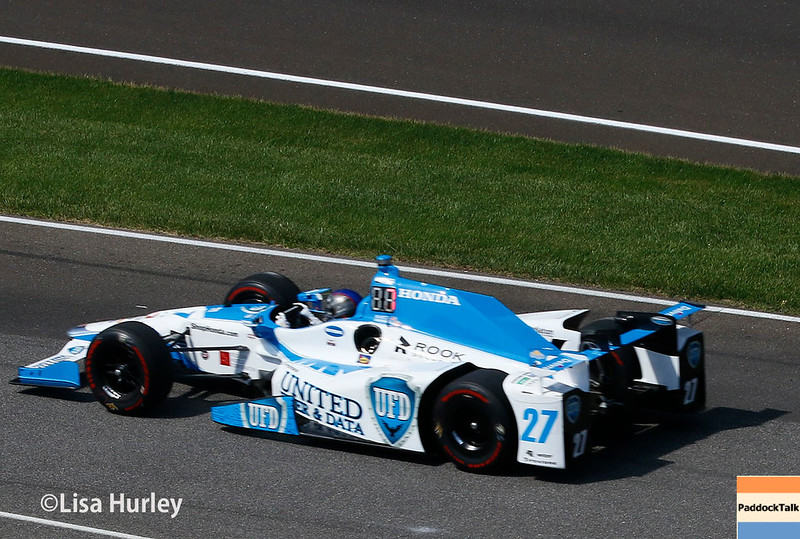 May 2017:  Marco Andretti during practice for the 101st Running of the Indianapolis 500.
