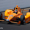 May 2017:  Fernando Alonso during practice for the 101st Running of the Indianapolis 500.