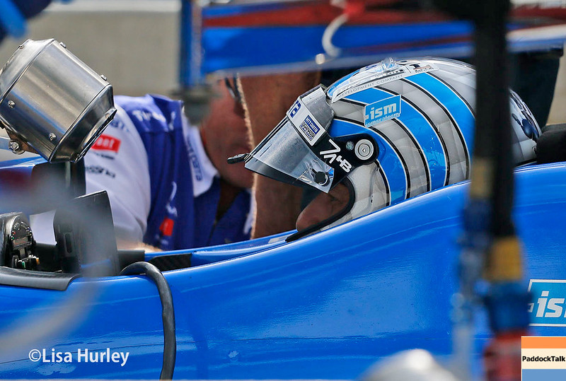 May 2017:  Tony Kanaan during practice for the 101st Running of the Indianapolis 500.