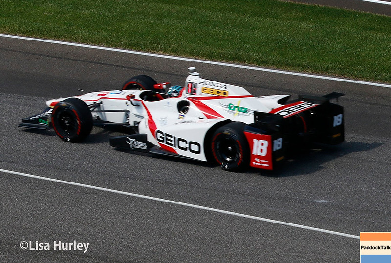 May 2017:  James Davison during practice for the 101st Running of the Indianapolis 500.