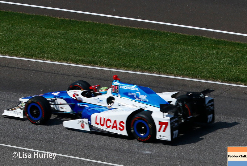 May 2017:  Jay Howard during practice for the 101st Running of the Indianapolis 500.