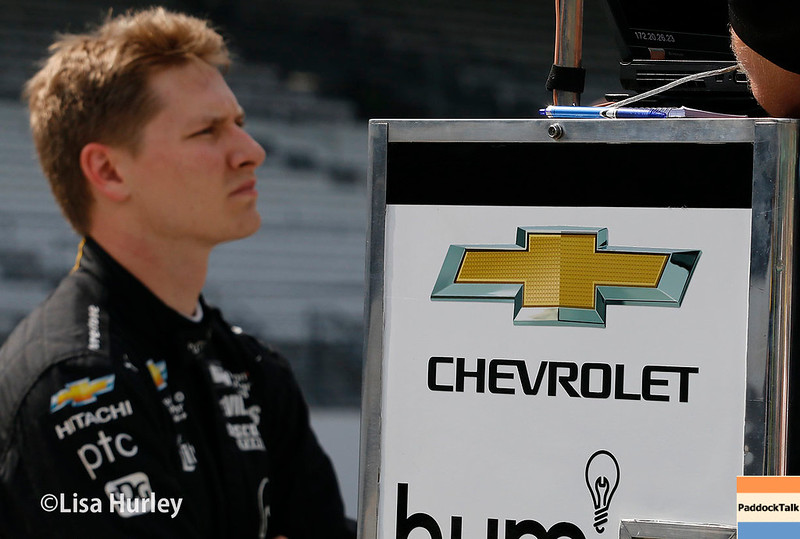 May 2017:  Josef Newgarden during practice for the 101st Running of the Indianapolis 500.