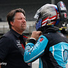 May 2017: Michael and Marco Andretti during practice for the 101st Running of the Indianapolis 500.