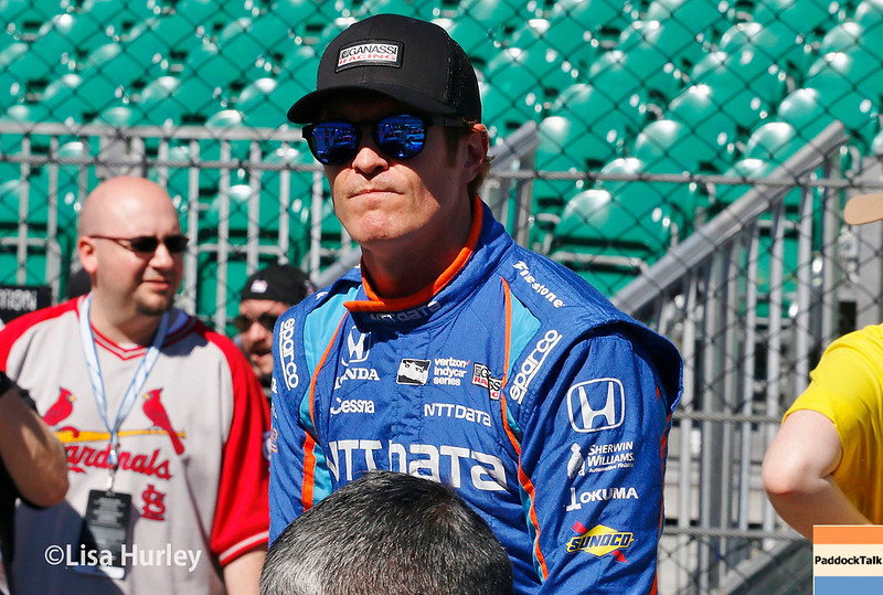 May 2017: Scott Dixon during practice for the 101st Running of the Indianapolis 500.