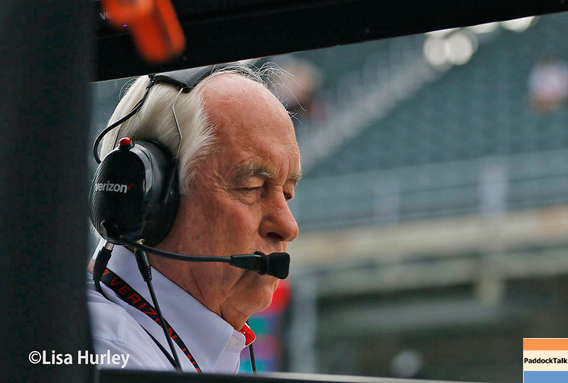 May 2017:  Roger Penske during practice for the 101st Running of the Indianapolis 500.