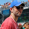 May 2017: Indianapolis Colts' quarterback, Andrew Luck, during practice for the 101st Running of the Indianapolis 500.
