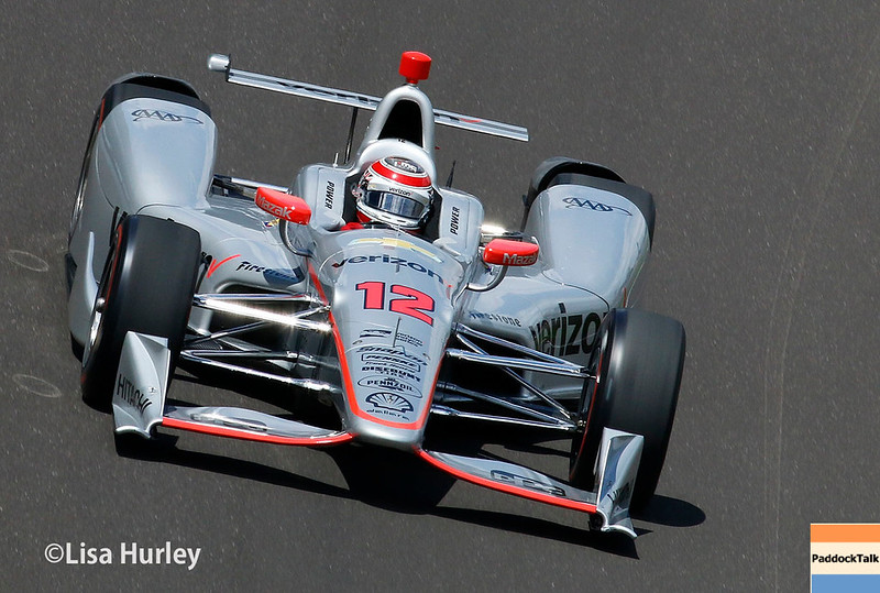 May 2017: Will Power during practice for the 101st Running of the Indianapolis 500.