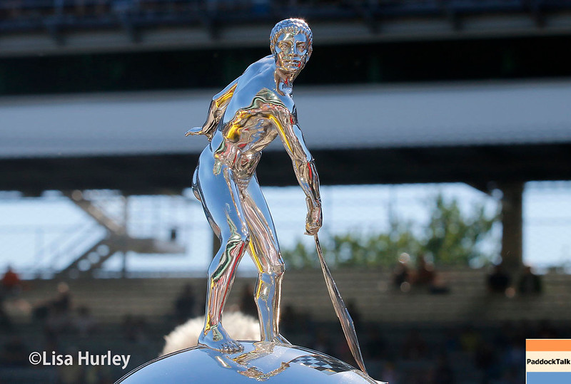 May 2017:  The Borg-Warner trophy during practice for the 101st Running of the Indianapolis 500.
