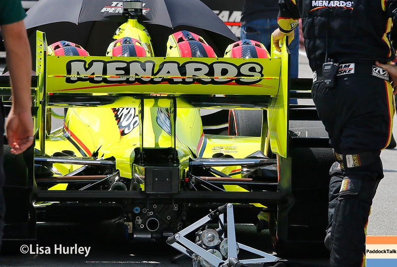 July 29-30: Simon Pagenaud's car before the Honda Indy 200 at Mid-Ohio.