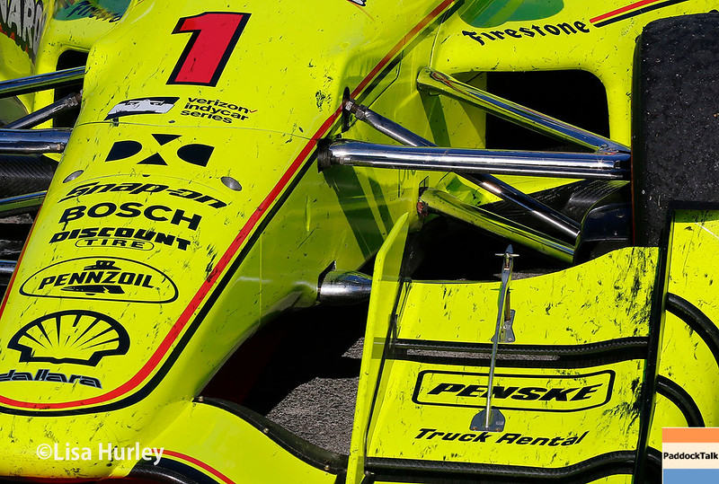July 29-30: Simon Pagenaud's car after the Honda Indy 200 at Mid-Ohio.