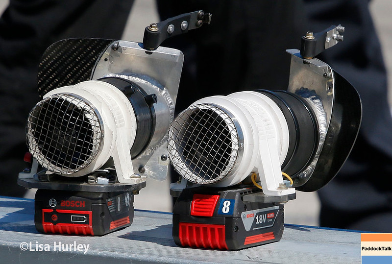 July 29-30: Cooling fans at the Honda Indy 200 at Mid-Ohio.