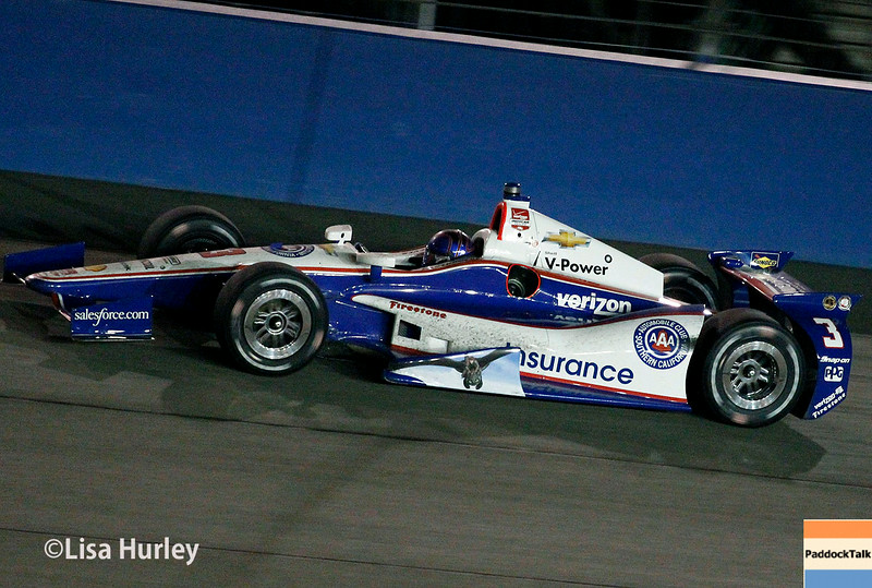 August 30:  Helio Castroneves during the MAVTV 500 race at Auto Club Speedway.
