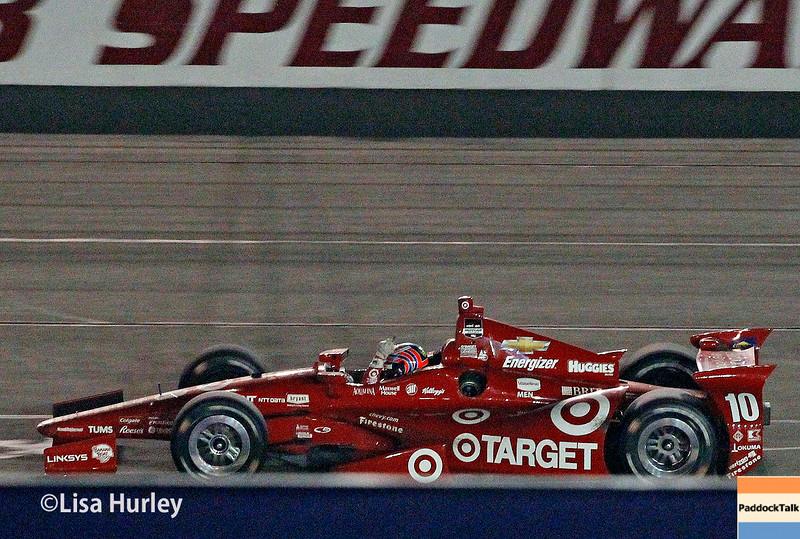 August 30:  Tony Kanaan after winning the MAVTV 500 race at Auto Club Speedway.