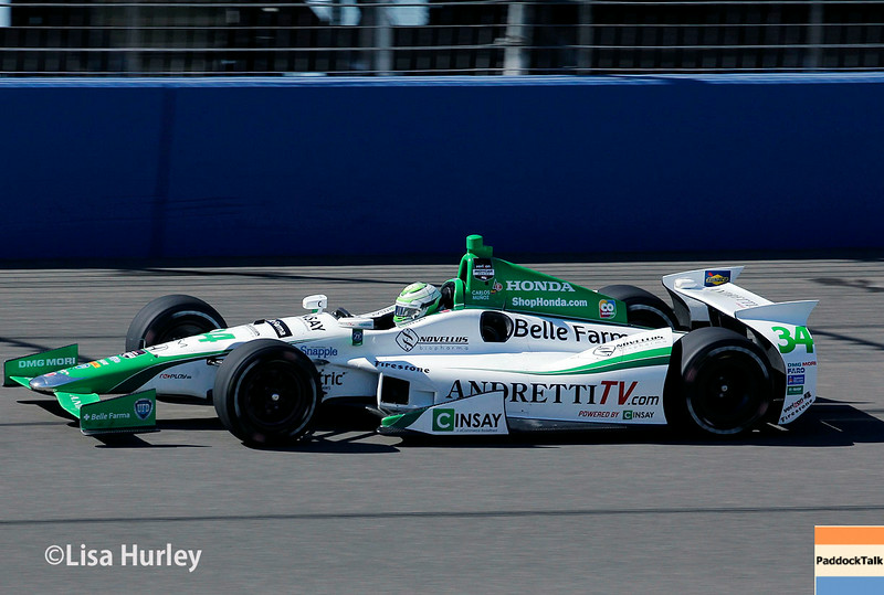 August 29: Carlos Munoz during MAVTV 500 practice and qualifications at Auto Club Speedway.
