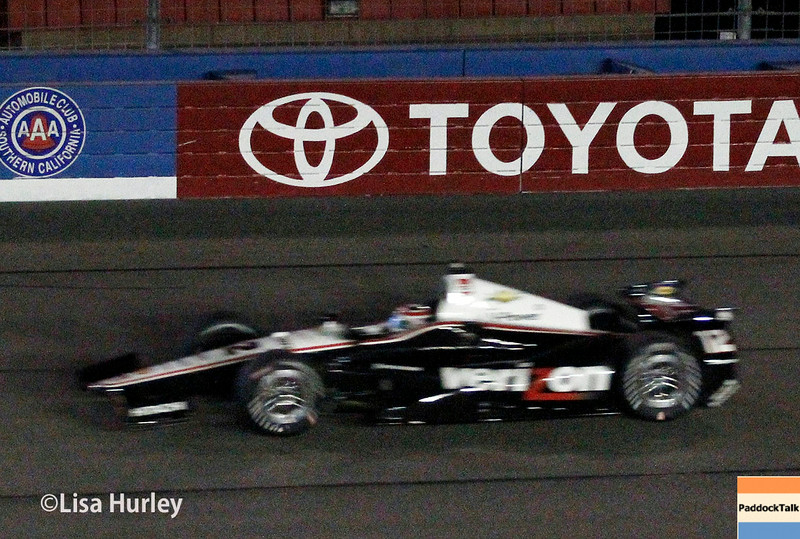 August 30:  Will Power during the MAVTV 500 race at Auto Club Speedway.