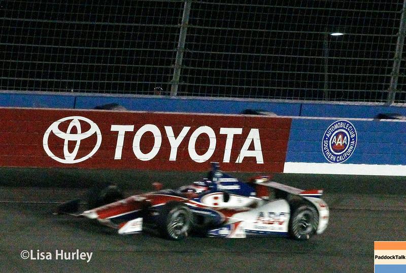 August 30:  Takuma Sato during the MAVTV 500 race at Auto Club Speedway.
