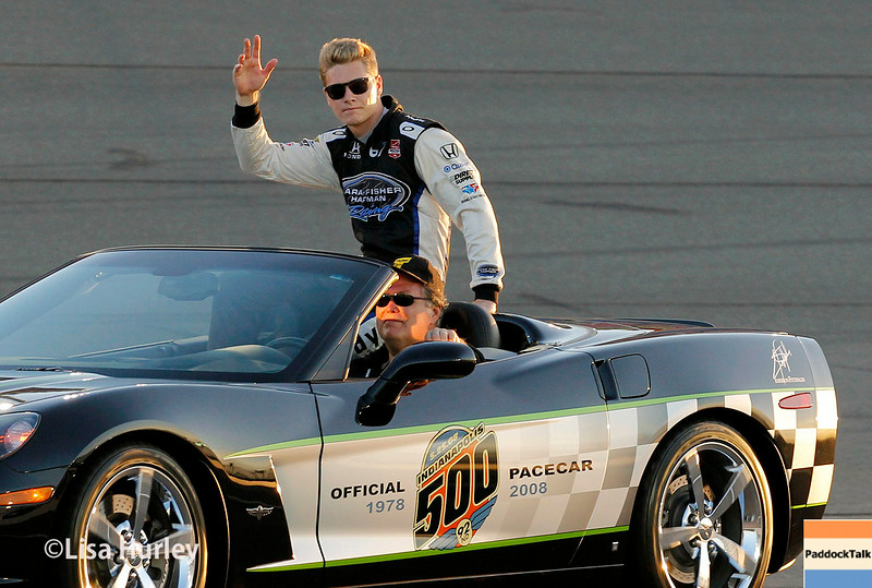 August 30: Josef Newgarden before the MAVTV 500 race at Auto Club Speedway.