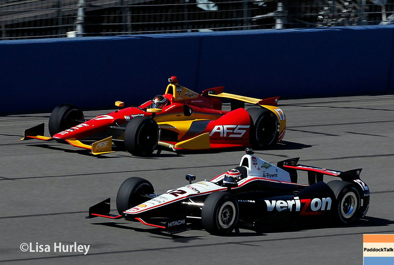 August 29: Sebastian Saavedra and Will Power during MAVTV 500 practice and qualifications at Auto Club Speedway.