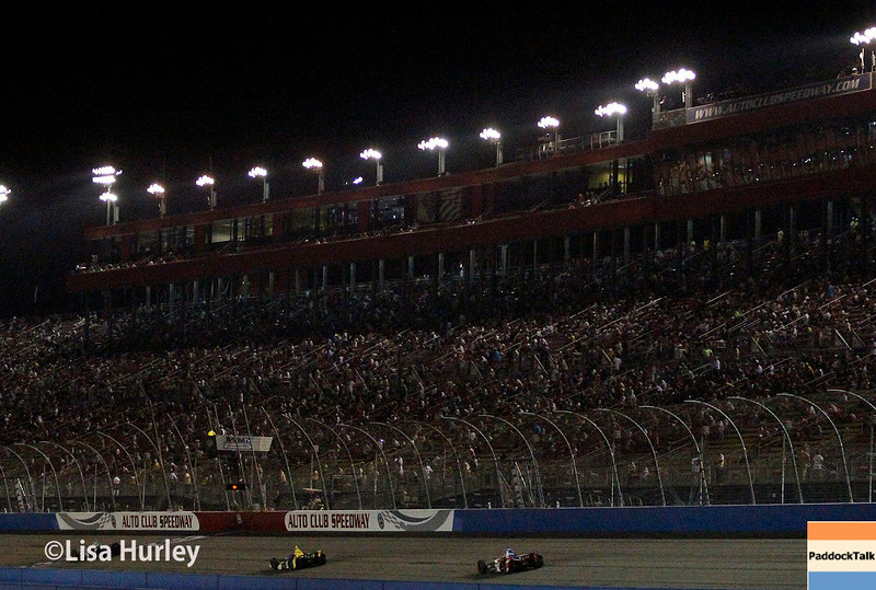 August 30:  Track action during the MAVTV 500 race at Auto Club Speedway.
