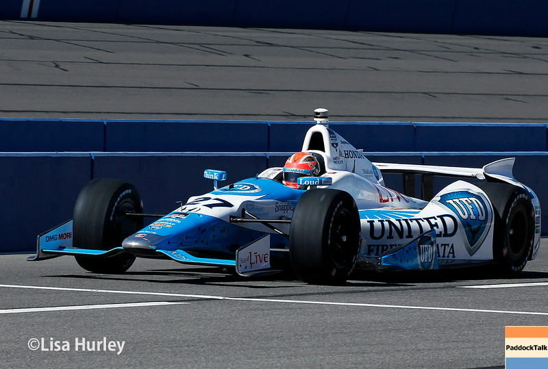 August 29: James Hinchcliffe during MAVTV 500 practice and qualifications at Auto Club Speedway.