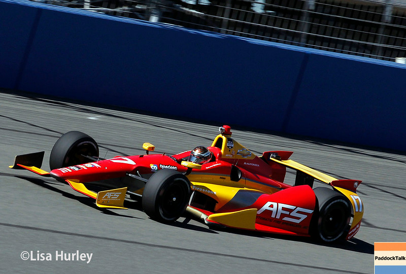 August 29: Sebastian Saavedra during MAVTV 500 practice and qualifications at Auto Club Speedway.