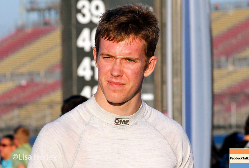 August 30: Jack Hawksworth before the MAVTV 500 race at Auto Club Speedway.