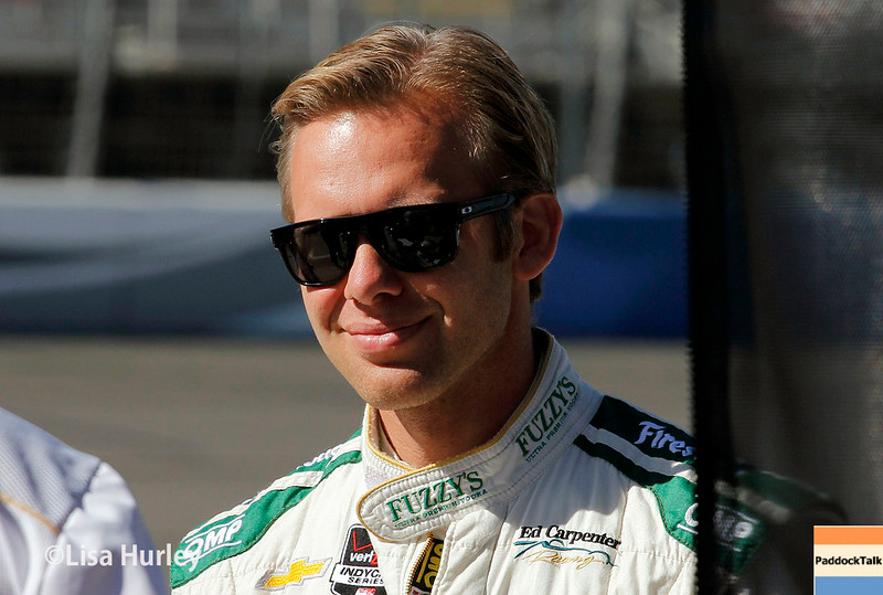 August 29: Ed Carpenter during MAVTV 500 practice and qualifications at Auto Club Speedway.