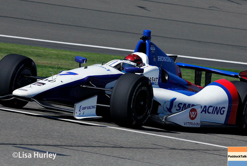 August 29: Mikhail Aleshin during MAVTV 500 practice and qualifications at Auto Club Speedway.