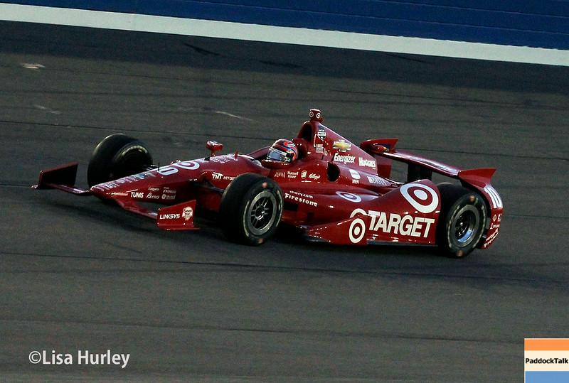 August 30: Tony Kanaan during the MAVTV 500 race at Auto Club Speedway.