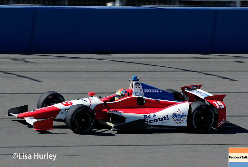 August 29: Justin Wilson during MAVTV 500 practice and qualifications at Auto Club Speedway.