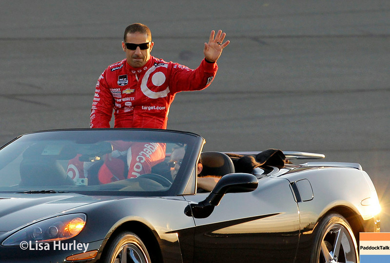 August 30: Tony Kanaan before the MAVTV 500 race at Auto Club Speedway.