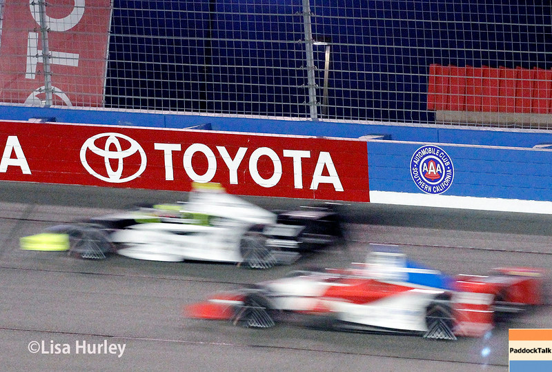 August 30:  Josef Newgarden and Justin Wilson during the MAVTV 500 race at Auto Club Speedway.