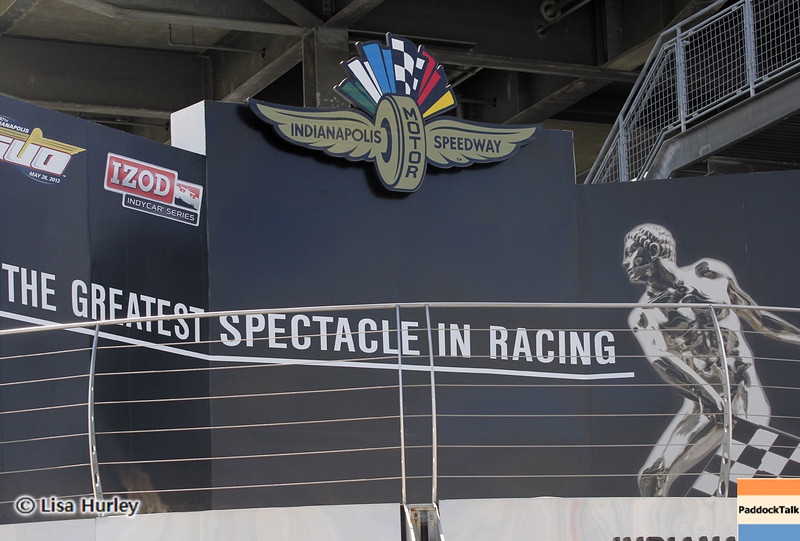 May 24: Victory podium during Carburetion Day before the 97th Indianapolis 500 at the Indianapolis Motor Speedway