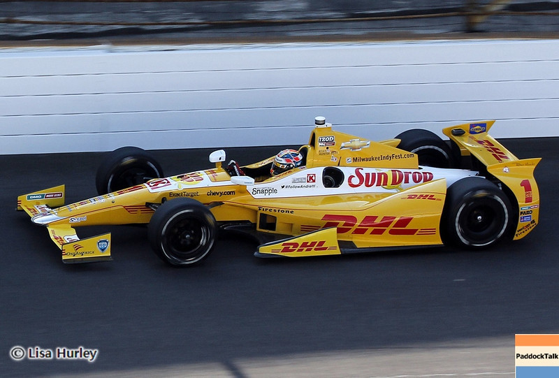 May 19: Ryan Hunter-Reay during qualifications for the 97th Indianapolis 500 at the Indianapolis Motor Speedway