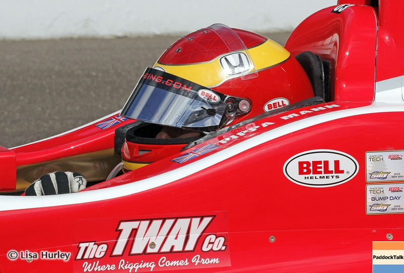 May 24: Pippa Mann during Carburetion Day before the 97th Indianapolis 500 at the Indianapolis Motor Speedway