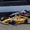 May 19: AJ Allmendinger and Ryan Hunter-Reay during qualifications for the 97th Indianapolis 500 at the Indianapolis Motor Speedway