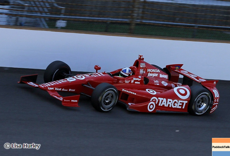 May 19: Dario Franchitti during qualifications for the 97th Indianapolis 500 at the Indianapolis Motor Speedway