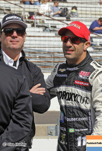 May 24: Jimmy Vasser and Tony Kanaan during Carburetion Day before the 97th Indianapolis 500 at the Indianapolis Motor Speedway