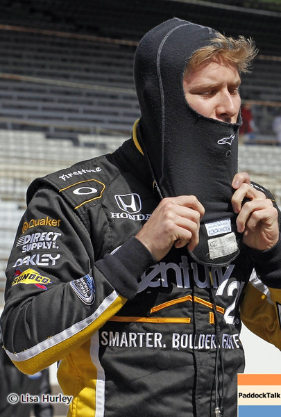 May 24: Josef Newgarden during Carburetion Day before the 97th Indianapolis 500 at the Indianapolis Motor Speedway