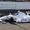 May 19: Sebastian Saavedra during qualifications for the 97th Indianapolis 500 at the Indianapolis Motor Speedway