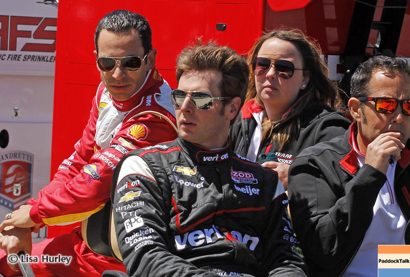 May 24: Helio Castroneves and Will Power during Carburetion Day before the 97th Indianapolis 500 at the Indianapolis Motor Speedway