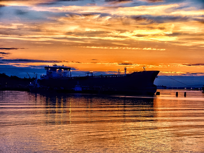 Shipped docked at Port Angeles WA