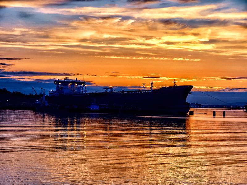 Shipped docked at Port Angeles WA