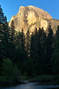 Yosemite, Half Dome at sunset