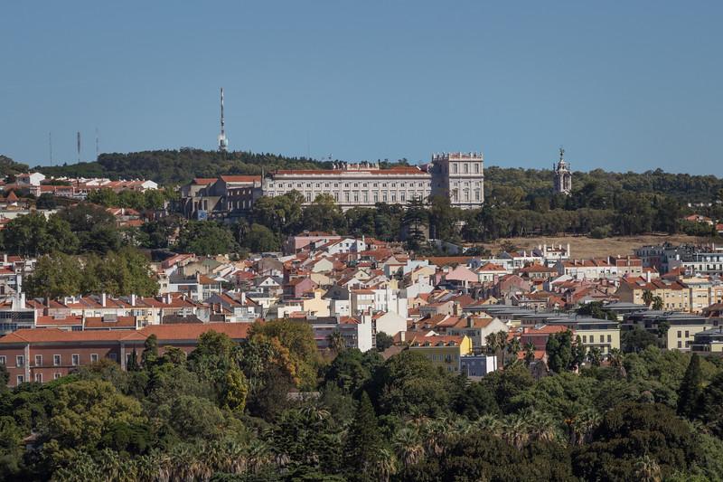 Vistas hacia el Palacio Nacional de Ajuda