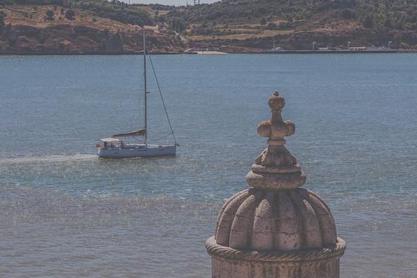 Torre de Belém y Velero.