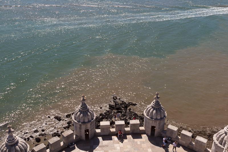 Vistas al Tajo desde la Torre de Belém