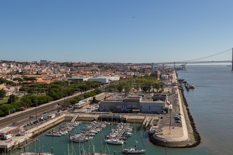 Vistas hacia Lisboa.