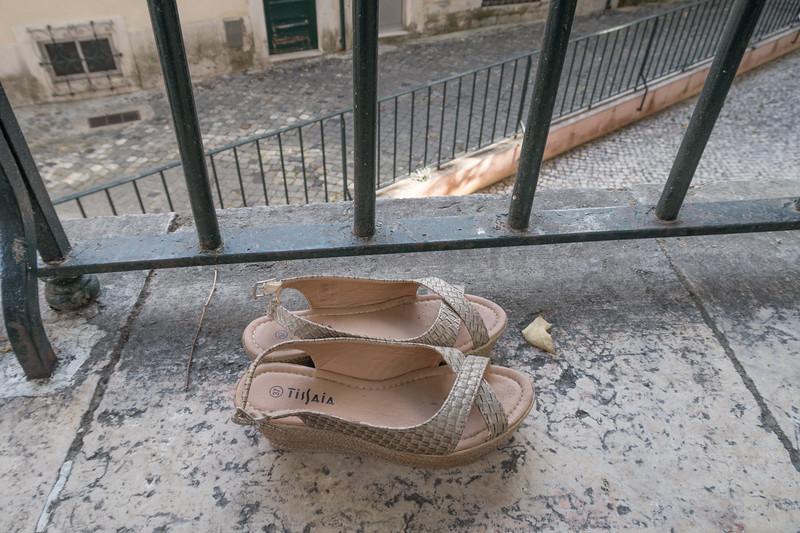 Zapatos secándose