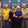 Lisbon 2017, Swiss Teams winners - Chris Taylor, David Schiff, Anne Catchpole, David Wing   (with Hannah Williams from Bridge Overseas)